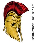 a trojan  spartan ancient greek ... | Shutterstock .eps vector #1042015174