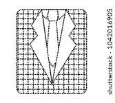 retro checkered shirt and...   Shutterstock .eps vector #1042016905