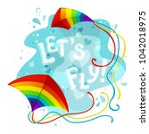 colorful vector background with ... | Shutterstock .eps vector #1042018975