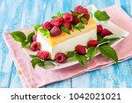 lemon curd semifreddo  ice... | Shutterstock . vector #1042021021