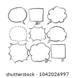 speech bubble collection   Shutterstock .eps vector #1042026997