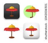 flat vector icon   illustration ... | Shutterstock .eps vector #1042036501