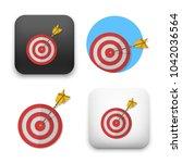 red darts target aim.... | Shutterstock .eps vector #1042036564