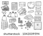 money accessories illustration  ... | Shutterstock .eps vector #1042039594