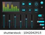 sound control panel. equalizer  ...
