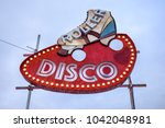 "retro neon ""roller disco"" sign 