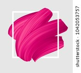 pink vector lipstick smear.... | Shutterstock .eps vector #1042053757
