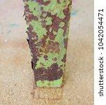 zinc rust closeup  metal rust... | Shutterstock . vector #1042054471