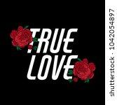 true love. vector  lettering...   Shutterstock .eps vector #1042054897