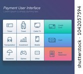payment online user interface... | Shutterstock .eps vector #1042057594