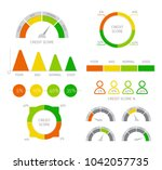 credit score infographic with... | Shutterstock .eps vector #1042057735