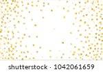 gold confetti. festive texture... | Shutterstock .eps vector #1042061659