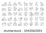 vector graphic set. 40x40... | Shutterstock .eps vector #1042062001