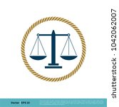scale of justice icon vector... | Shutterstock .eps vector #1042062007