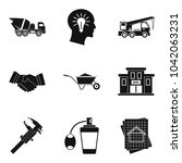 workforce icons set. simple set ... | Shutterstock .eps vector #1042063231