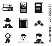 writer icons set. simple set of ... | Shutterstock .eps vector #1042063384