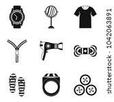 feminine accessories icons set. ... | Shutterstock .eps vector #1042063891