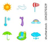 predicting the weather icons... | Shutterstock .eps vector #1042070329