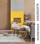 modern home living room corner... | Shutterstock . vector #1042092979