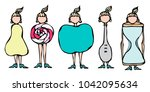 pear  lollipop  apple  spoon ... | Shutterstock .eps vector #1042095634