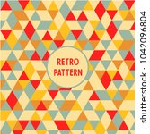 retro triangle pattern.... | Shutterstock .eps vector #1042096804