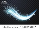 vector transparent blue wave... | Shutterstock .eps vector #1042099057