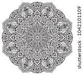 black and white mandala vector...   Shutterstock .eps vector #1042101109