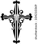 religious cross design...   Shutterstock .eps vector #104210369