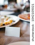 empth white card with space for ... | Shutterstock . vector #1042105021