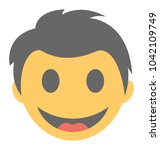 a smiley expressing being... | Shutterstock .eps vector #1042109749