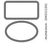 rope border illustration   a... | Shutterstock .eps vector #1042111201