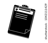 medical report icon | Shutterstock .eps vector #1042111429