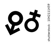 sex sign icon | Shutterstock .eps vector #1042111459