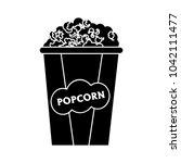 popcorn icon   cinema movie | Shutterstock .eps vector #1042111477