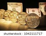 ico for startup funding  ... | Shutterstock . vector #1042111717