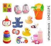 baby collection isolated on a... | Shutterstock . vector #10421191