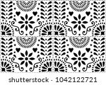 folk art vector seamless... | Shutterstock .eps vector #1042122721