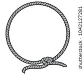 Rope Border Lasso Illustration...