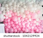 wedding decoration wall from... | Shutterstock . vector #1042129924