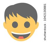 a smiley showing big grin... | Shutterstock .eps vector #1042130881