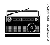 retro radio icon   flat icon  ... | Shutterstock .eps vector #1042133974