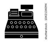 cashier machine icon   vector... | Shutterstock .eps vector #1042134094