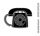 retro old phone icon   contact... | Shutterstock .eps vector #1042134124