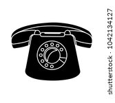 vector retro old phone icon  ... | Shutterstock .eps vector #1042134127