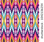 tribal seamless colorful... | Shutterstock .eps vector #1042136254