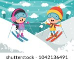 vector illustration of kid... | Shutterstock .eps vector #1042136491