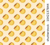 seamless pattern with falafel...   Shutterstock .eps vector #1042137844