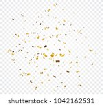 gold confetti explosion ... | Shutterstock .eps vector #1042162531