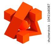 3d Geometric Composition....