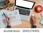businessman analyzing... | Shutterstock . vector #1042176901